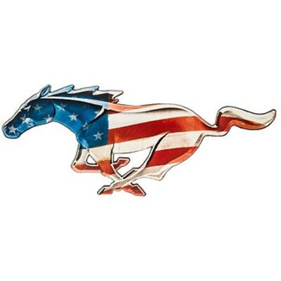 Ford Mustang USA Horse Logo Tin Metal Wall Art Sign Shelby Garage Shop  Large 24\