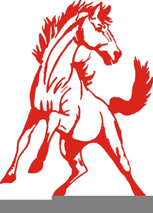 Clipart Mustangs Mascot.