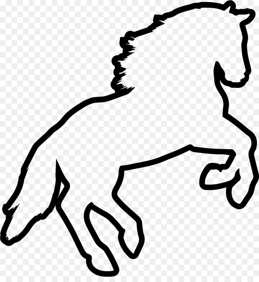Mustang Dog Silhouette Rearing Clip art.