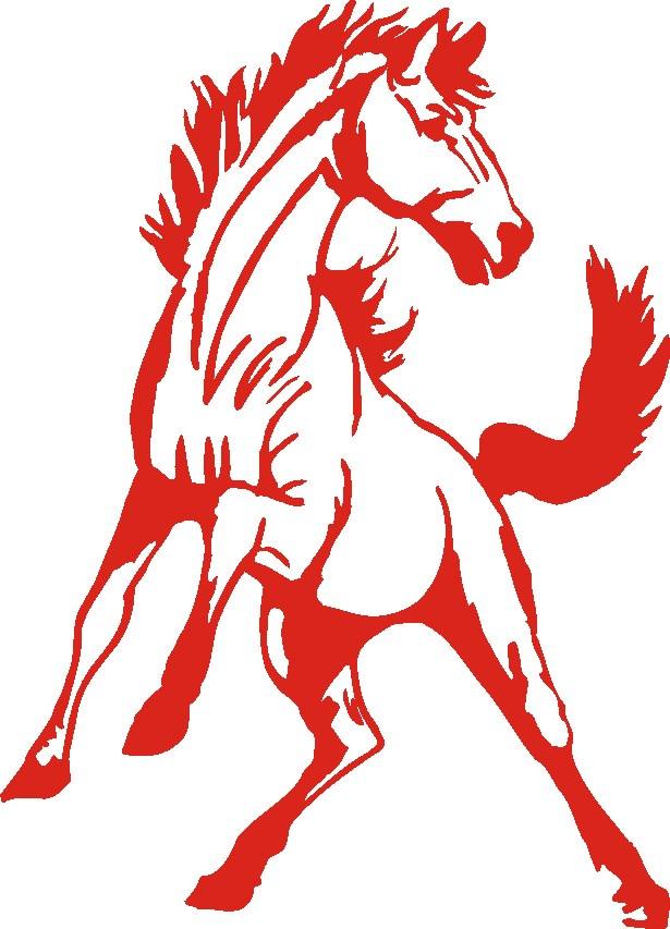 Mustang Mascot Logo.