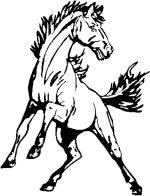 Mustang clipart mascot.