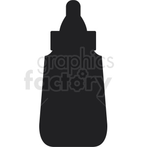 mustard bottle silhouette clipart. Royalty.