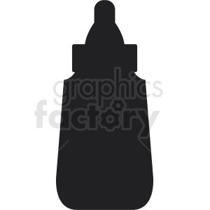 mustard bottle silhouette clipart. Royalty.