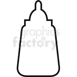 mustard bottle outline clipart. Royalty.