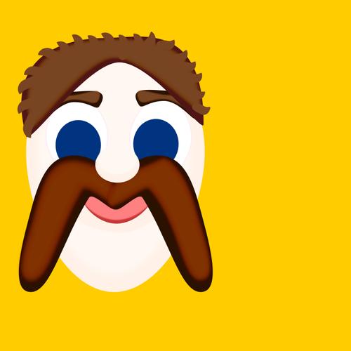 M för mustasch vektor ClipArt.