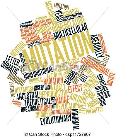 Stock Illustration of Mutation.