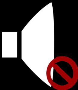 Mute Clipart.