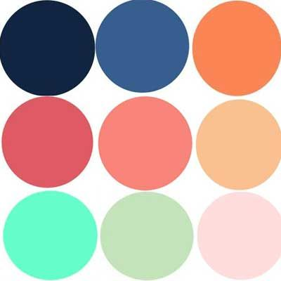Family Photo Color Possibilities: Navy, Slate Blue, Peach Coral.