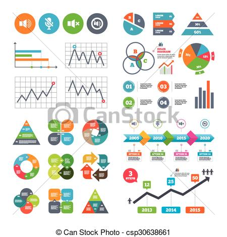 Clip Art Vector of Player control icons. Sound, microphone and.