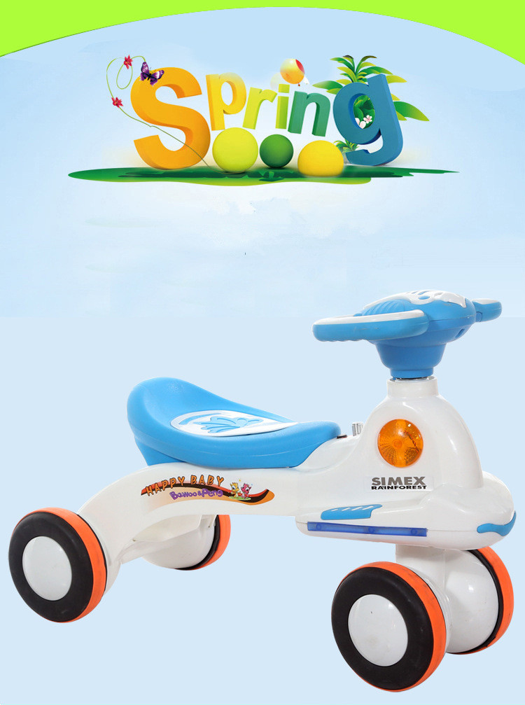 Light music Mute wheel toddler swing car.