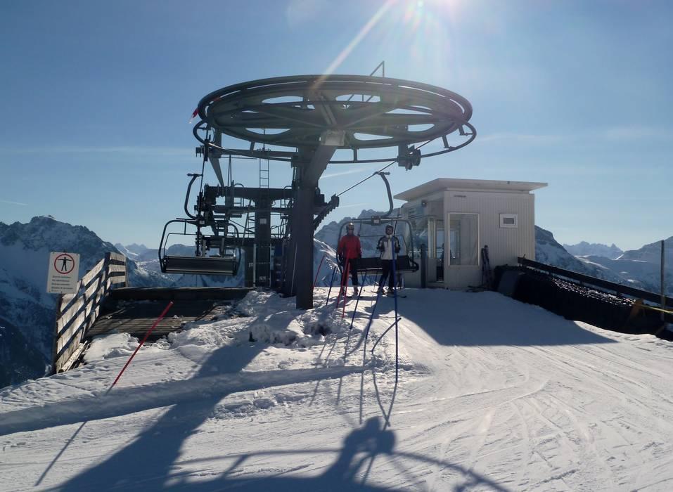 Ski lifts Walmendingerhorn.