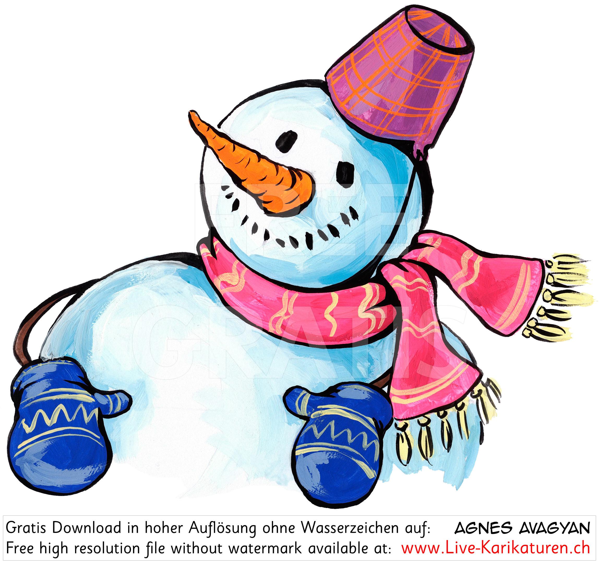 Schneemann Hut Handschuhe.
