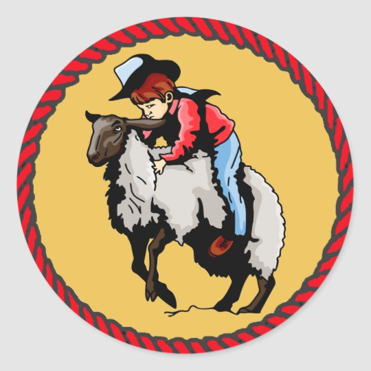 Western Stickers Rodeo Mutton Busting.