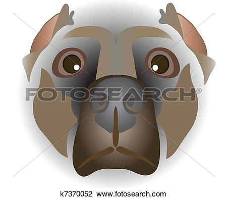 Clipart of muzzle of dog k7370052.