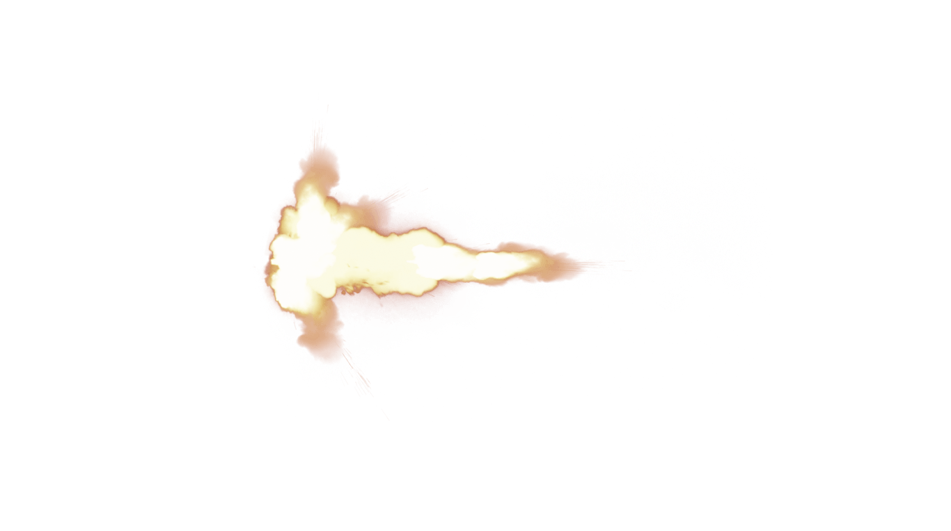 Small Muzzle Flash transparent PNG.