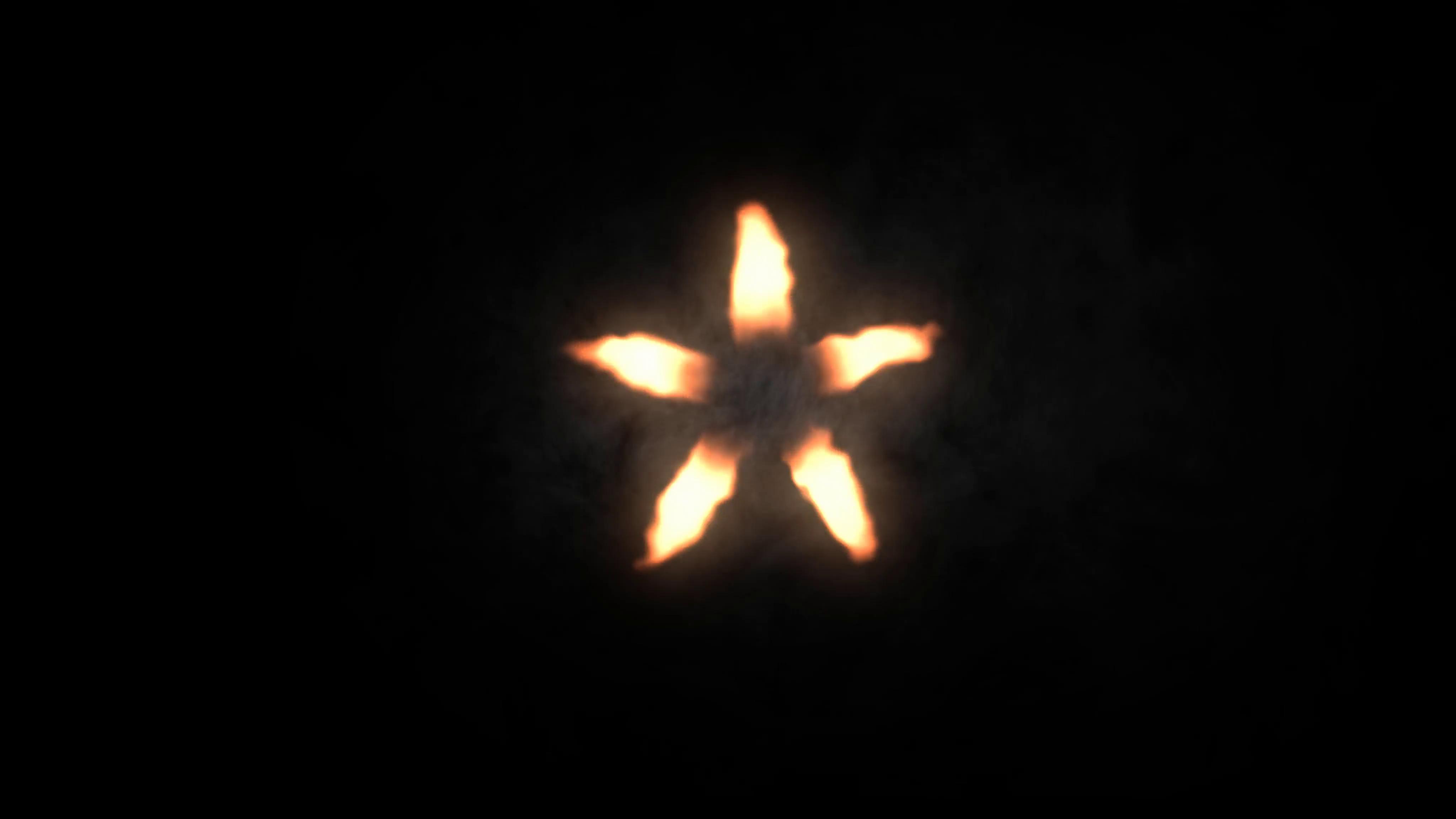 muzzle flare/flash star shape 4K Motion Background.