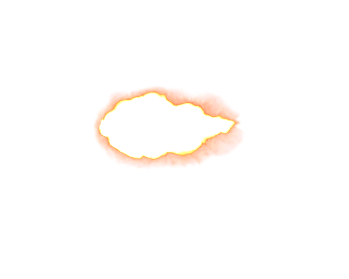 Oval Muzzle Flash transparent PNG.