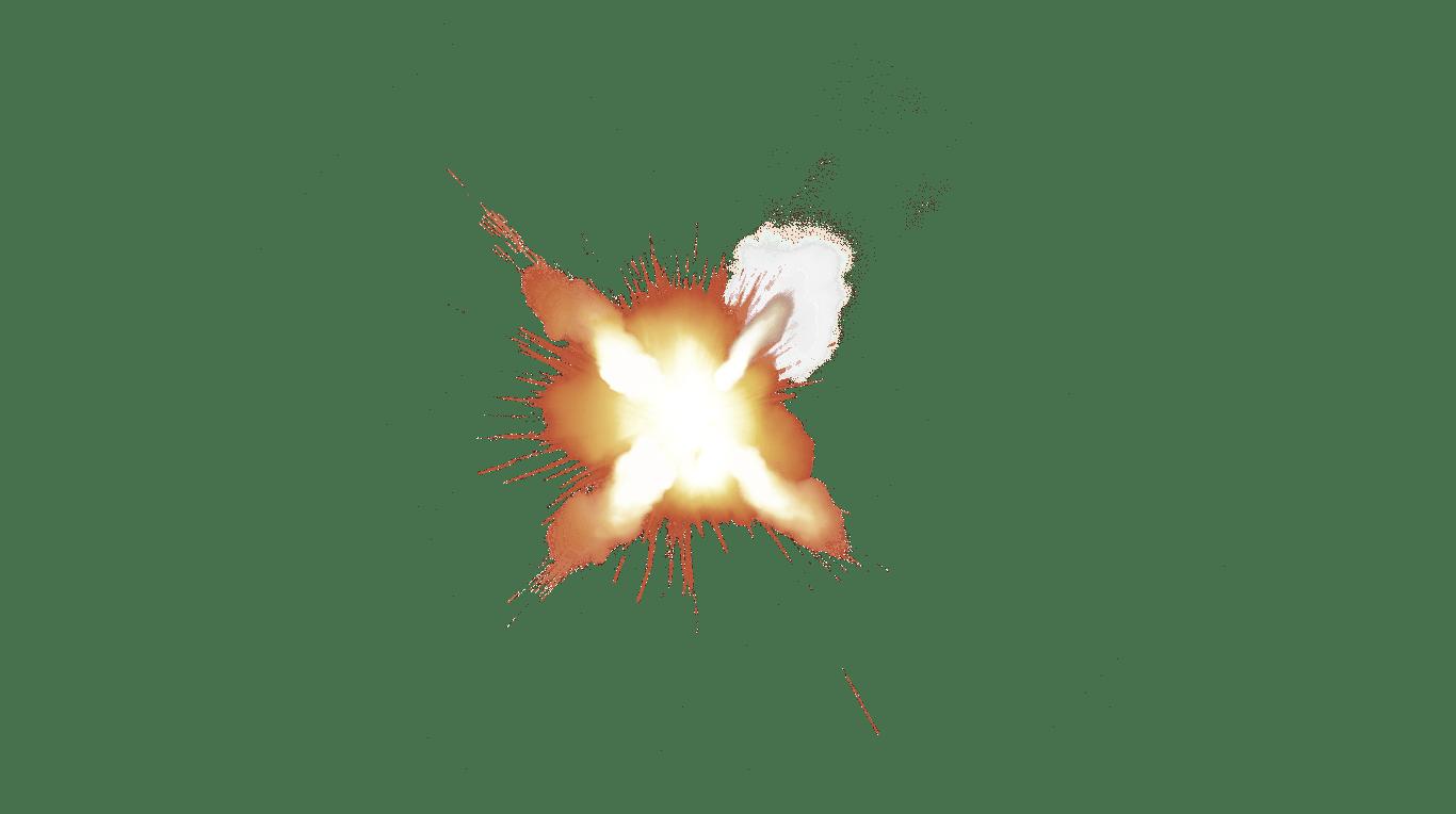Muzzle Flash Front transparent PNG.