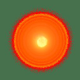 Circle Muzzle Flash transparent PNG.