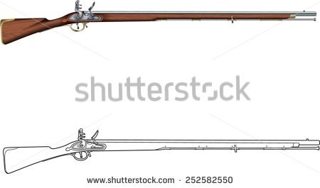 Muzzleloader clipart without background.