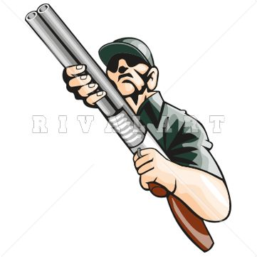 Wright muzzle loader clipart.