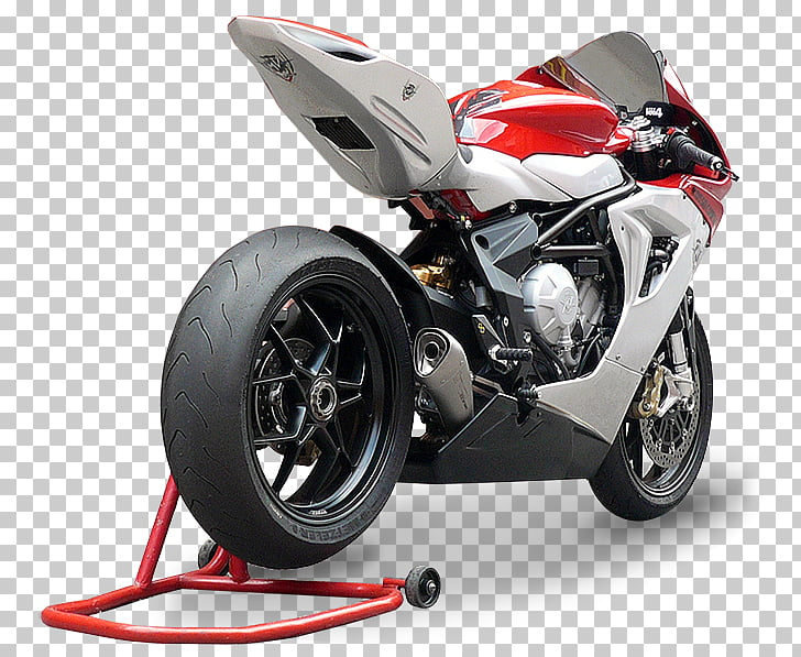 Exhaust system EICMA MV Agusta Brutale series Motorcycle.