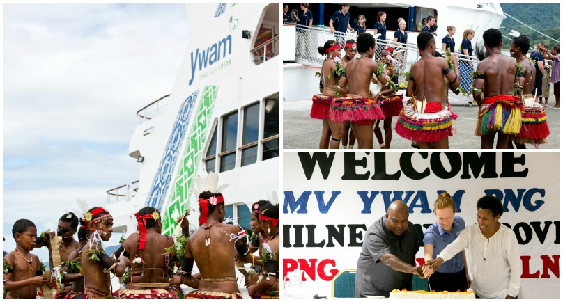 MV YWAM PNG Welcomed Into Milne Bay.