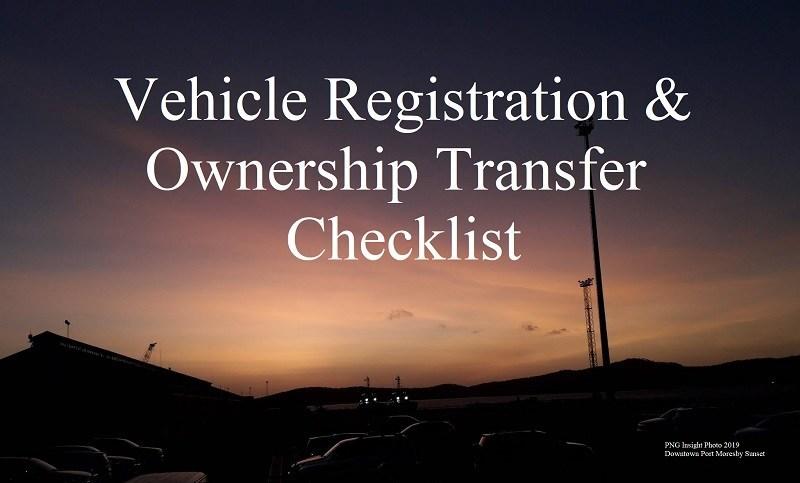 MVIL Vehicle Registration Requirements.
