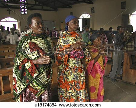 Stock Photo of mwanza, person, mass, catholic, tanzania, people.