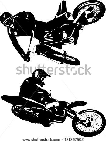 Motocross Bike Stock Photos, Royalty.