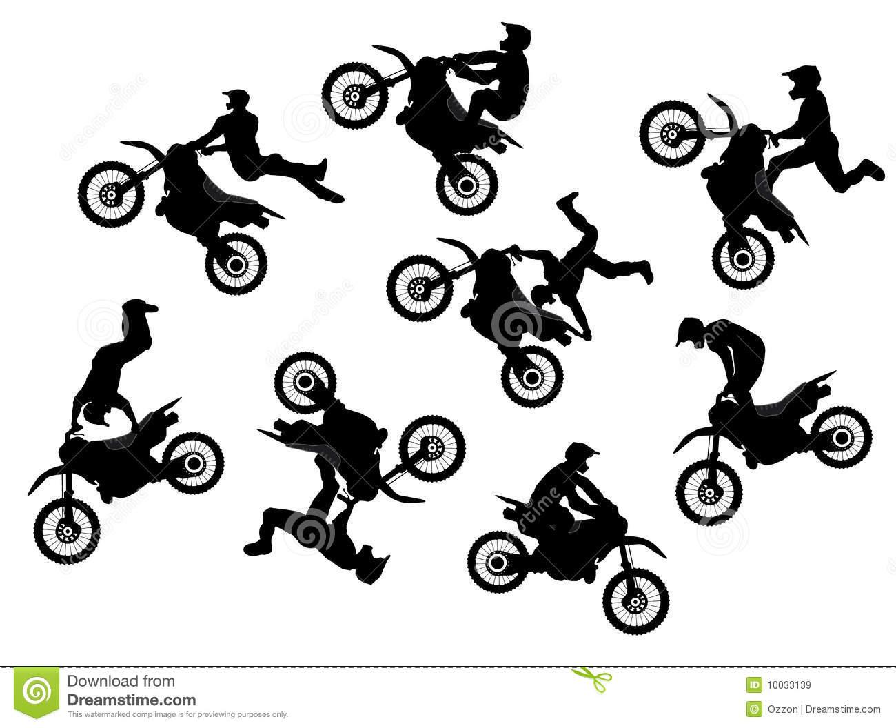 Motocross Stock Illustrations.