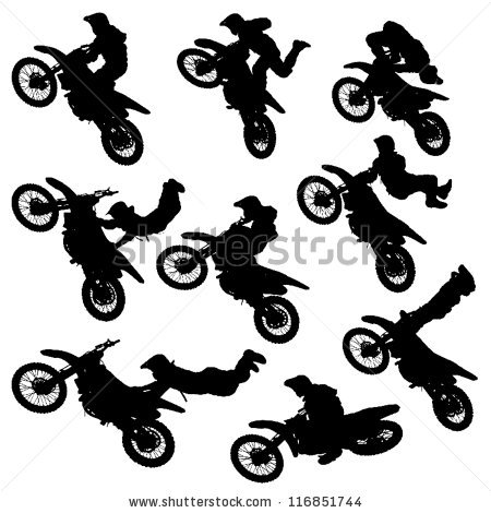 Motocross Jump Stock Photos, Royalty.