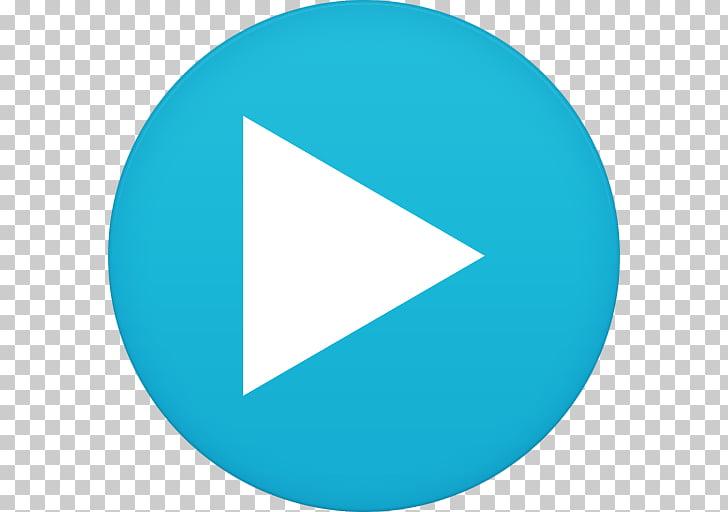 Blue angle symbol aqua, Mx player, play logo PNG clipart.