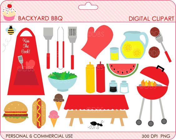bbq clipart digital clip art outdoors summer.