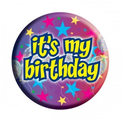 Its My Birthday Pin Clipart.