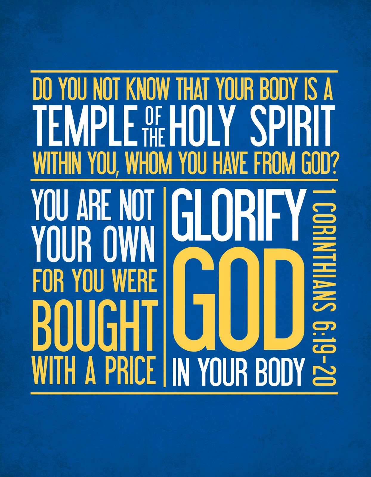 My Body Is A Temple Of God Clipart.