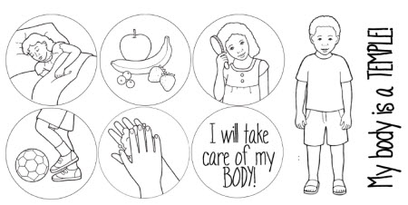 Lds Clipart My Body Is A Temple.