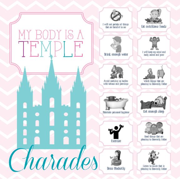 Activity Day Ideas: My Body Is A Temple.
