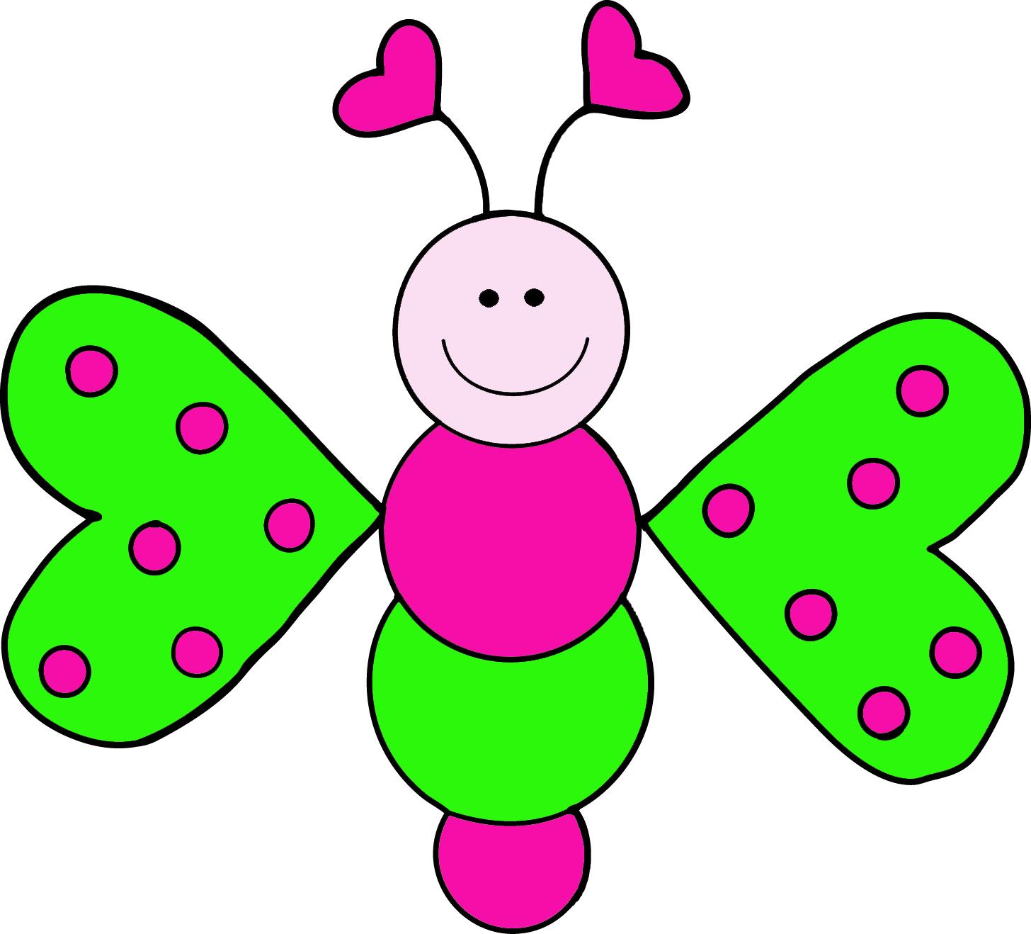 pink butterfly clip art.