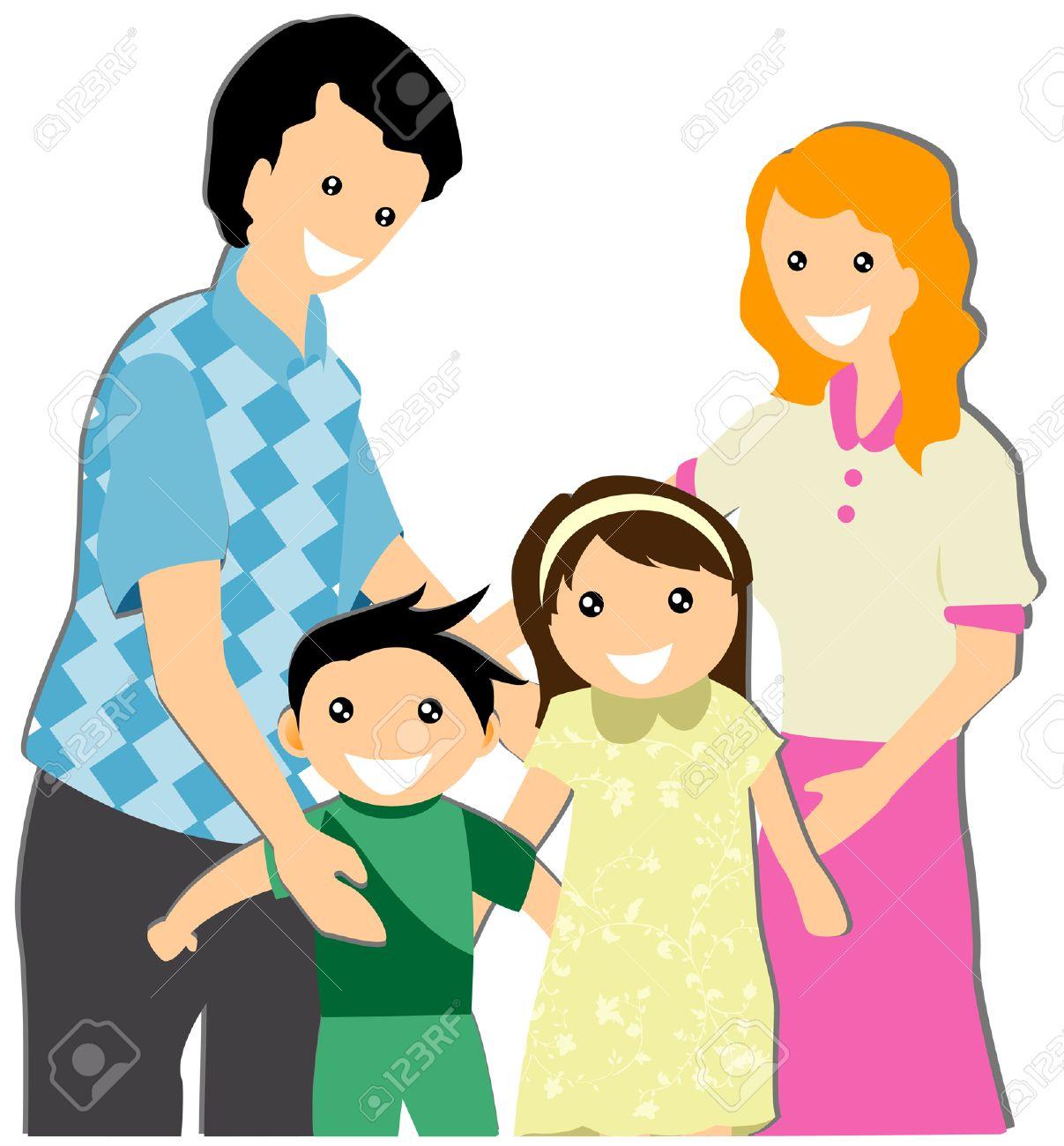 My Family Illustration.