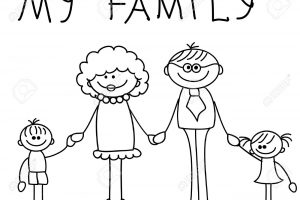 Happy family clipart black and white 6 » Clipart Station.