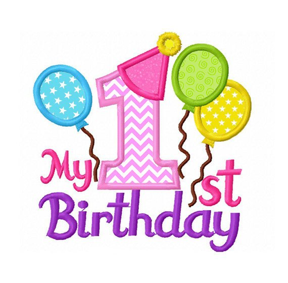My first birthday clipart 9 » Clipart Portal.
