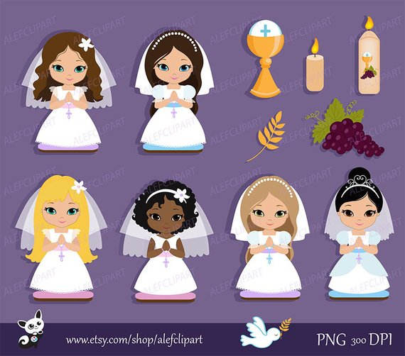 My first Communion Clipart for Girls..