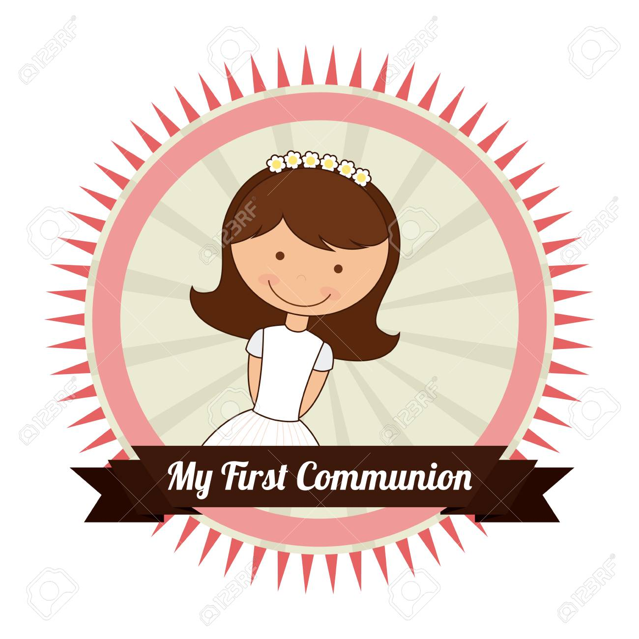 my first communion design, vector illustration eps10 graphic.