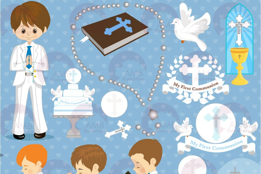 First Communion Clipart AMB.