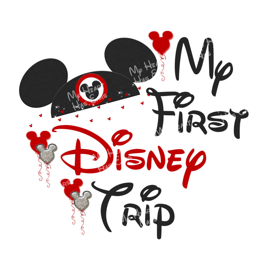 My first Disney trip Minnie Mouse ears INSTANT DOWNLOAD digital.