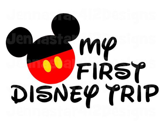 My First Disney Trip Clipart.