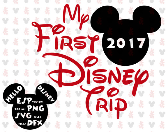 My first Disney trip Mickey Clipart Disney Cut files Mouse.