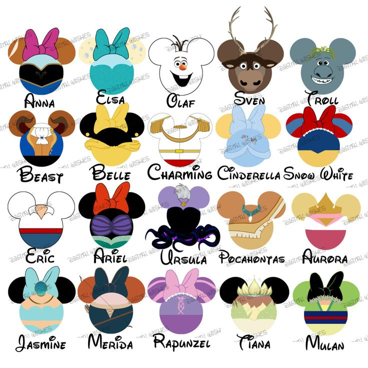 My First Disney Trip Characters Clipart Free