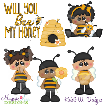 Will You Be My Honey Cutting Files Includes Clipart.
